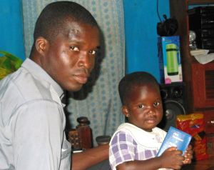 Fr Prosper, Parish Priest at Agbozume with his daughter