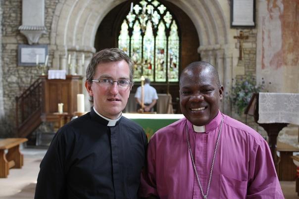 Mishop Matthias with Fr Gary