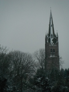 St James in the snow February 2013