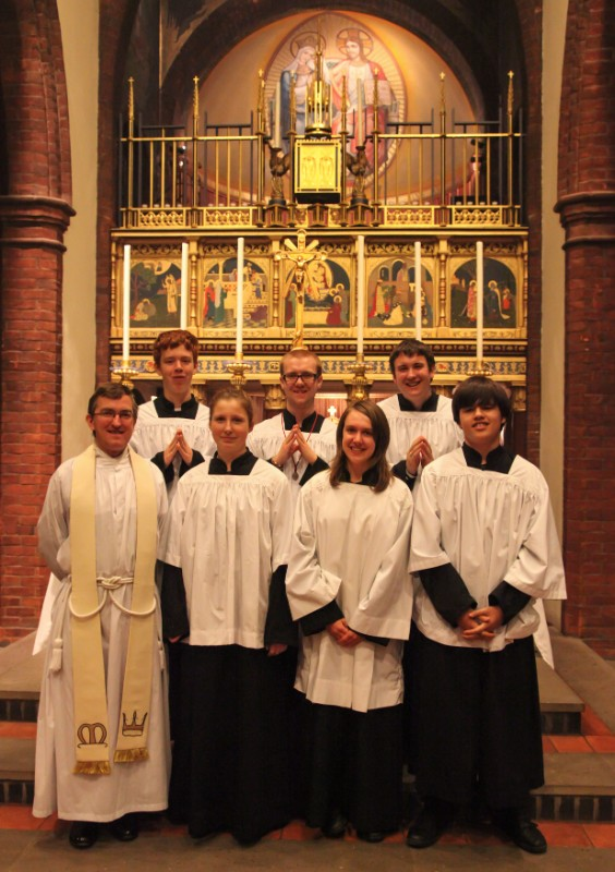 On active service at the Shrine of Our Lady of Walsingham during the 2012 Bible Week