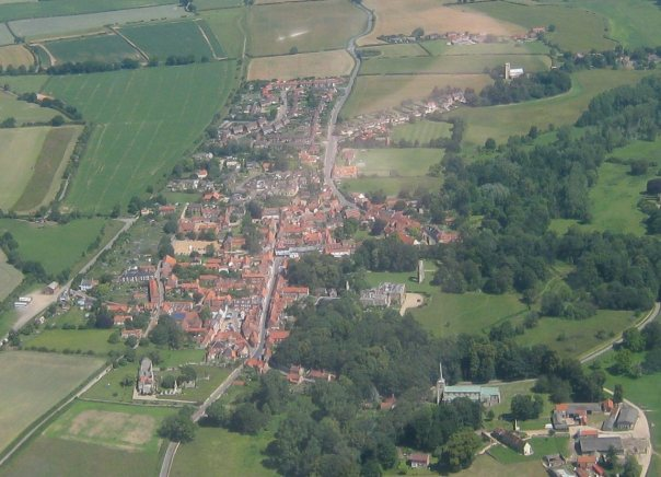 Walsingham from the air, as captured by Andy Gambles