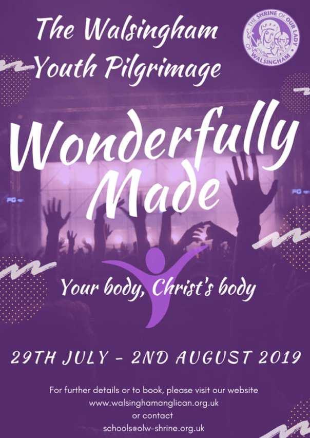 walsingham youth pilgrimage 2019