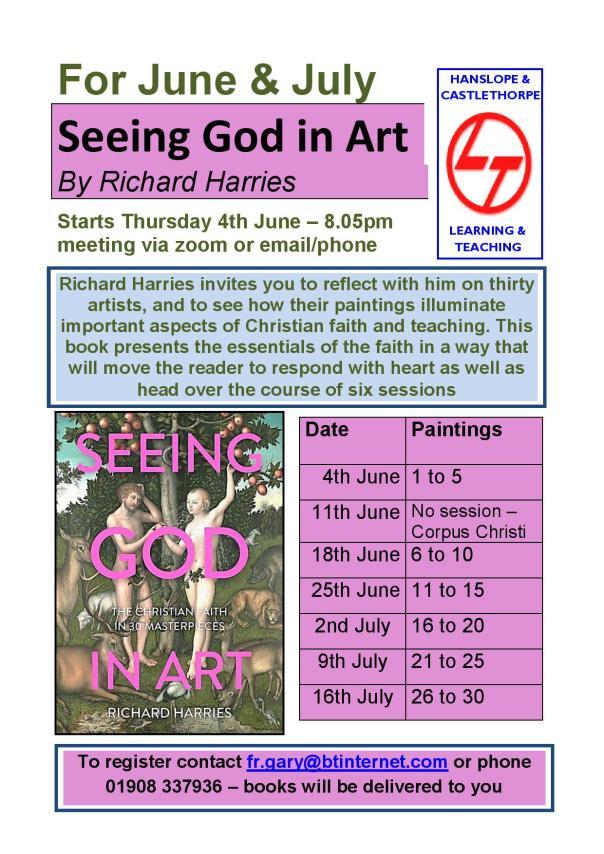 Seeing God in Art Poster June 2020
