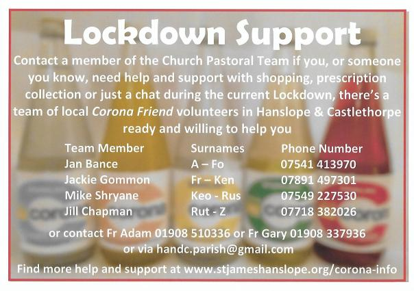 Lockdown Pastoral Link Castlethorpe November 2020