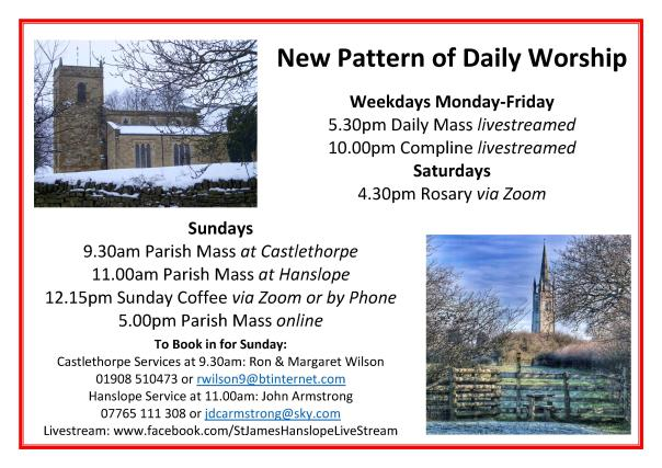 2021 New Pattern of Daily Worship January
