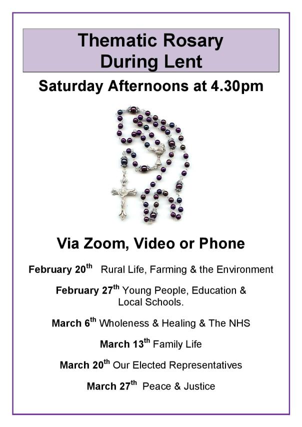 Lent Rosary Group - Poster 2021