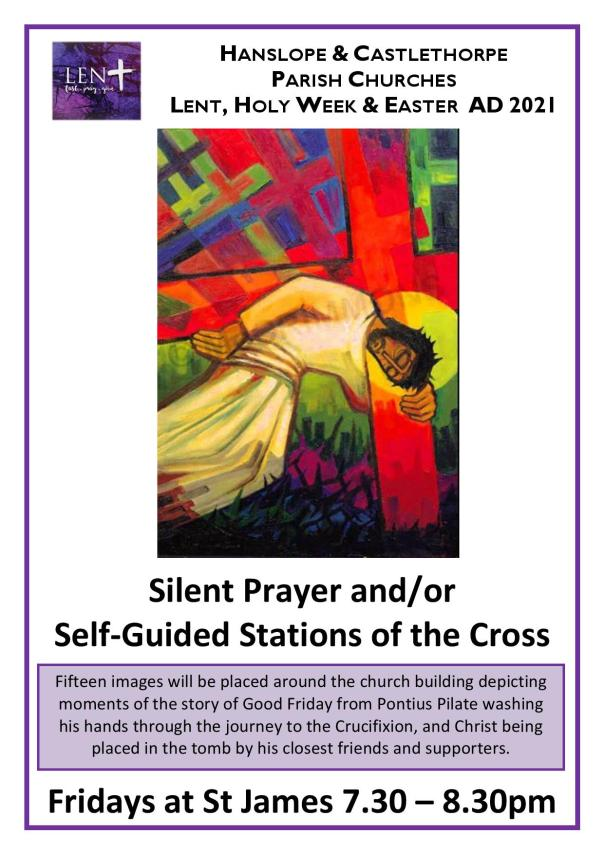 Private prayer and Stations Poster Lent 2021